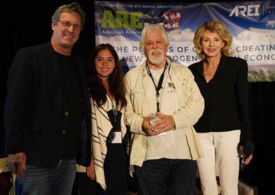 with Chip Comins, Xiye Bastida and Paul Watson