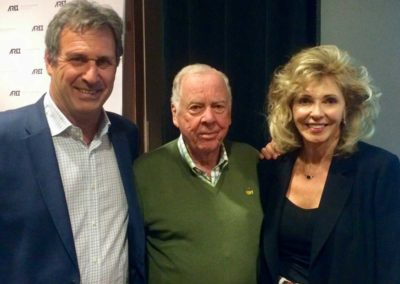 with T. Boone Pickens and Chip Comins