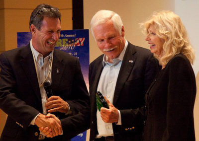 with Ted Turner and Chip Comins