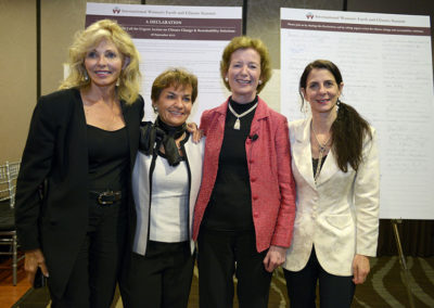 with Christiana Figueres, President Mary Robinson & Osprey Orielle Lake